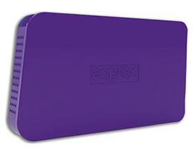 Approx Caja Externa 2.5'' USB 2.0 Morado