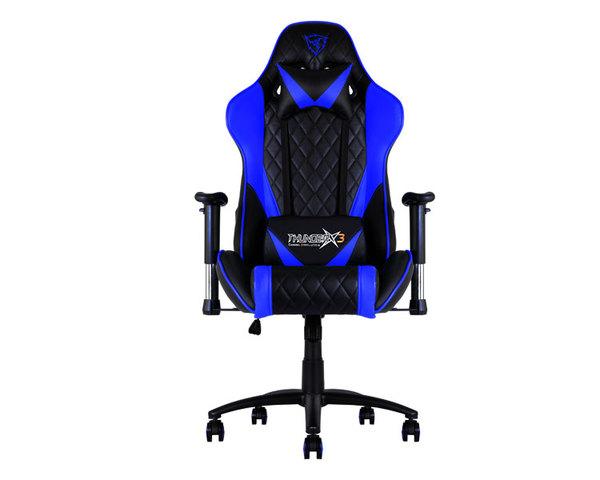 Silla gaming ThunderX3 TGC15 blanco/azul