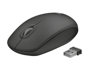 Trust Ziva Wireless Óptico Negro
