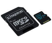Kingston microSD 64GB Clase 10 Adaptador