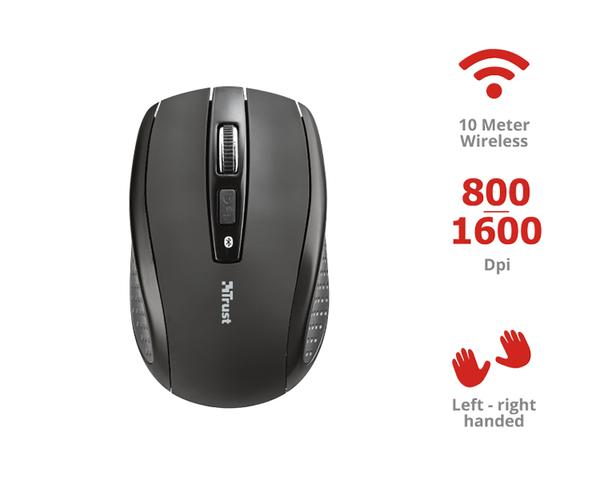 Ratón Trust Siano Wireless 1600DPI Negro