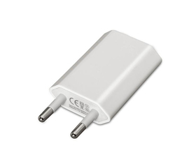 Nanocable Mini Cargador de Red USB 5V/1A Blanco
