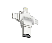 Tooq TQR-4001 Lector de Tarjetas Externo USB 4 en 1