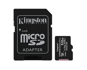 Kingston MicroSD 512GB Canvas Select Plus con Adaptador