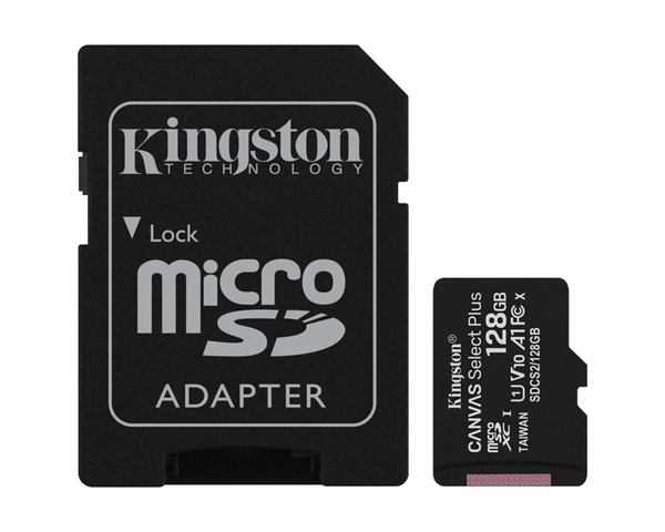 Kingston MicroSD 128GB Canvas Select Plus con Adaptador