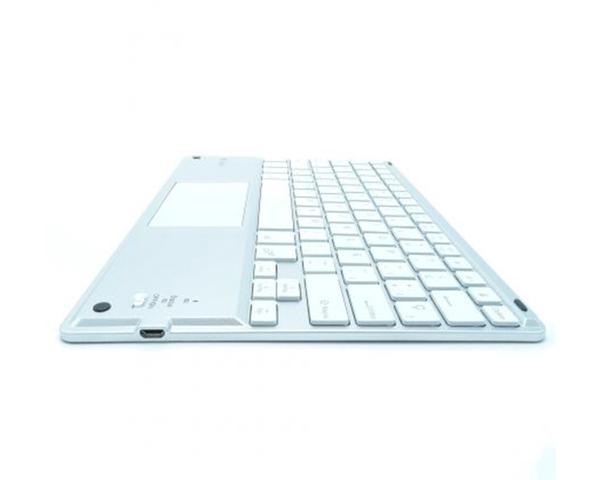 Subblim Smart Backlit Teclado Bluetooth con Touchpad Plata