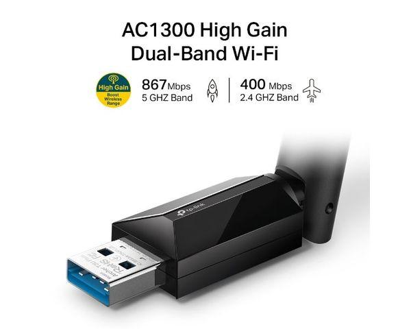 TP-Link Archer T3U Plus Adaptador WiFi USB Banda Dual AC1300