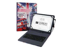 """Subblim Funda England con Teclado Keytab USB para Tablet 10.1"""""""