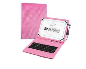 "Subblim Funda Con Teclado Keytab Pro MicroUSB para Tablets 10.1"" Rosa"