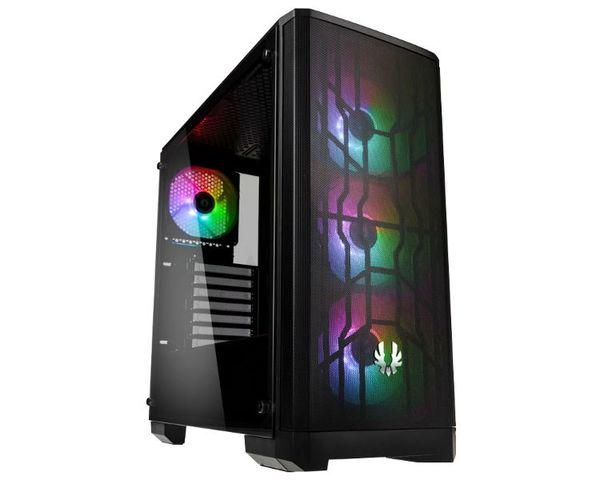 BitFenix Nova Mesh TG ATX 4ARGB Cristal Templado Negro
