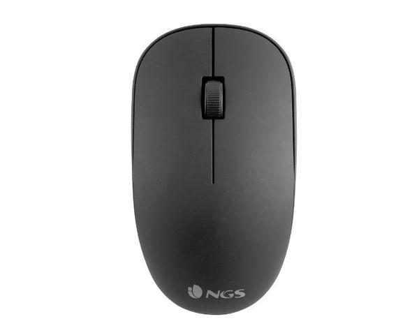 NGS Easy Alpha Ratón Óptico Inalámbrico 1000DPI Negro