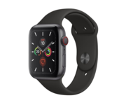 Apple Watch Series 5 Aluminio GPS + Cellular 44mm Gris Espacial con Correa Deportiva Negra