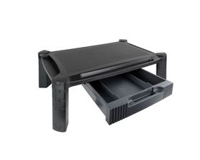 TooQ Soporte Elevador Regulable Multiusos con Cajón Negro