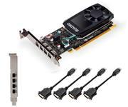 PNY Nvidia Quadro P620 V2 2GB GDDR5 + Adaptador 4×mDP a DVI-D