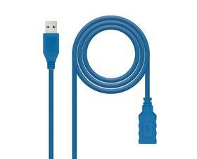 Nanocable Cable Alargador USB 3.0 Tipo A/M-A/H Azul 2Metros
