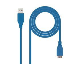 Nanocable Cable USB 3.0 Tipo A a Micro USB Tipo B Macho/Macho 1m Azul