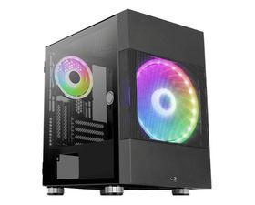 Aerocool Atomic ARGB MicroATX Cristal Templado USB 3.0 Negra