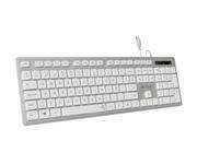 Subblim Wired Ergo Keys Silent Plata